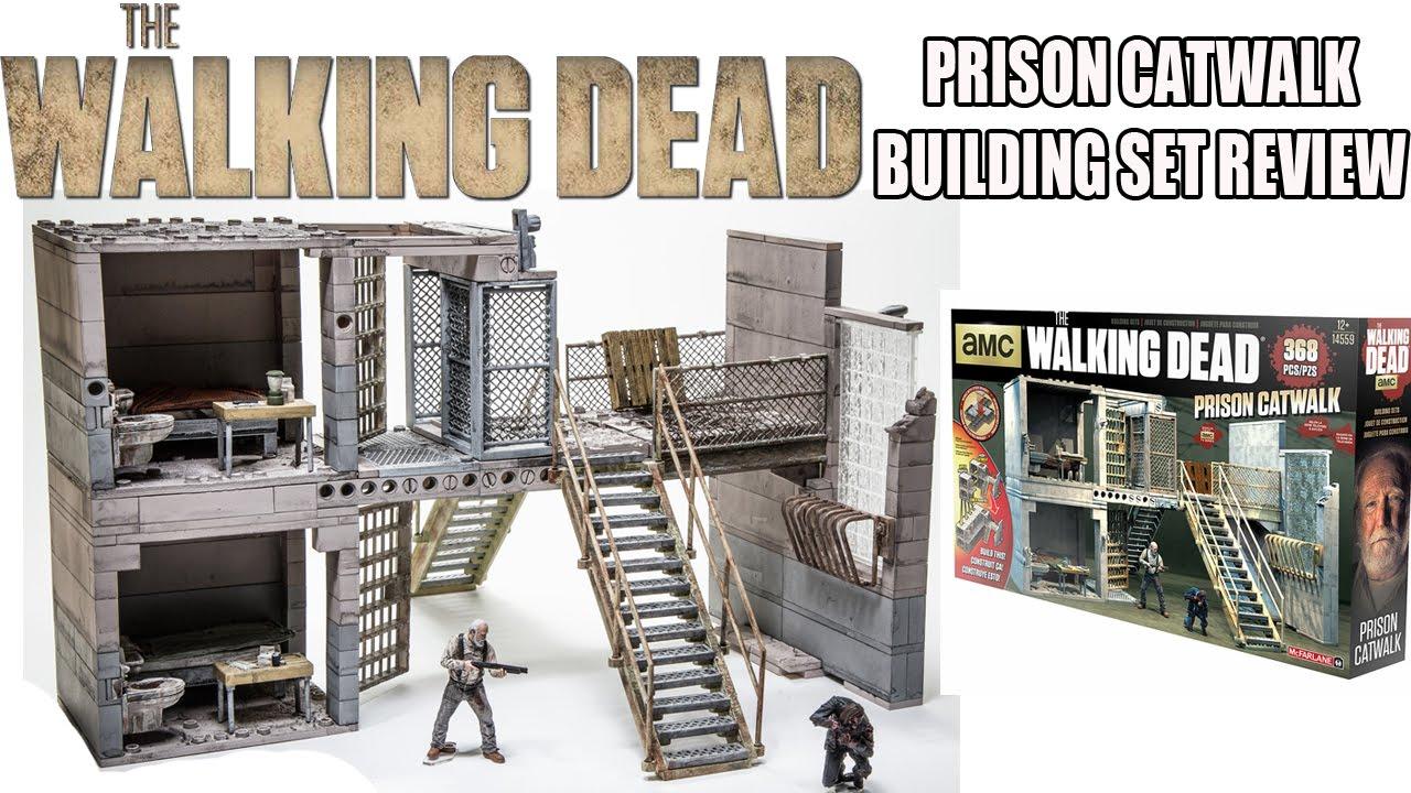 AMC The Walking Dead - PRISON CATWALK - McFarlane Toys Building Set Review