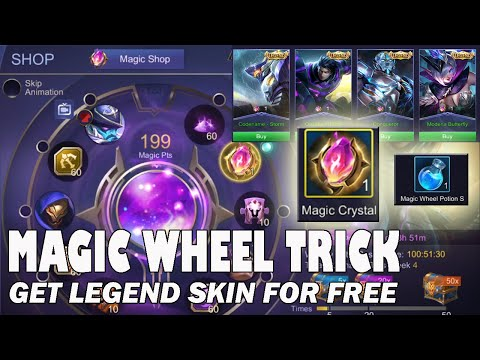MAGIC WHEEL TRICK TO GET THE MAGIC CRYSTAL | Save your Diamonds | Get the Legend Skin For Free