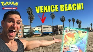 I'M IN LOS ANGELES! - Pokemon Card Opening at VENICE BEACH! - HYPER RARE CHARIZARD WHERE YOU AT?!