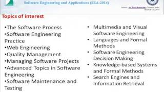 Third International Conference on Software Engineering and Applications (SEA-2014)