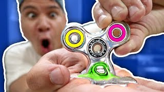 DIY GALLIUM FIDGET SPINNER MELTS IN HAND!!! Rare Liquid Mirror Fidget Spinner Toys & Tricks