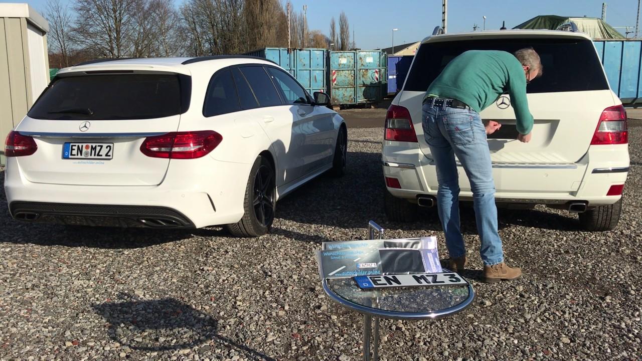 Mercedes Benz / AMG Kennzeichen Nummernschild mit Kennzeichnklett ...