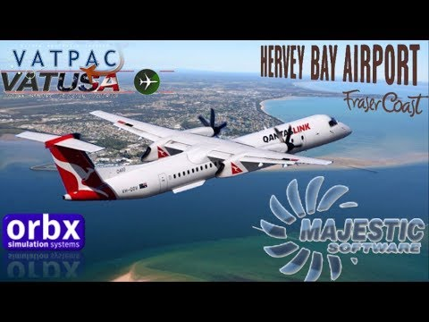 Majestic DH8D Q400 from Orbx YBBN to Hervey Bay (FSX)