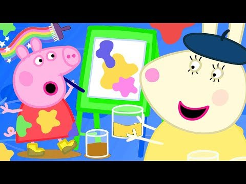 Peppa Pig Official Channel  New Season  Peppa Paints Using Colourful Mud