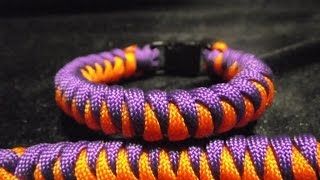 Repeat youtube video Paracorde, bracelet Weavy loops scorpion (tuto francais)