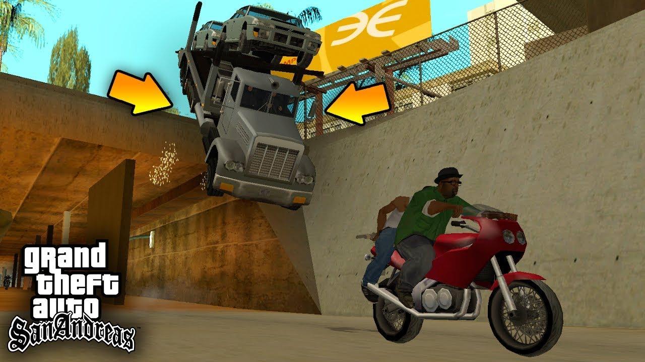 """Куда уезжает и откуда приезжает ГРУЗОВИК на миссии """"Просто бизнес"""" в GTA SA ?!"""
