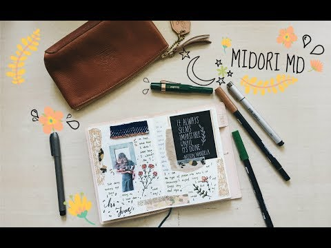 Journal With me  How I journal in my Diary Midori MD A6