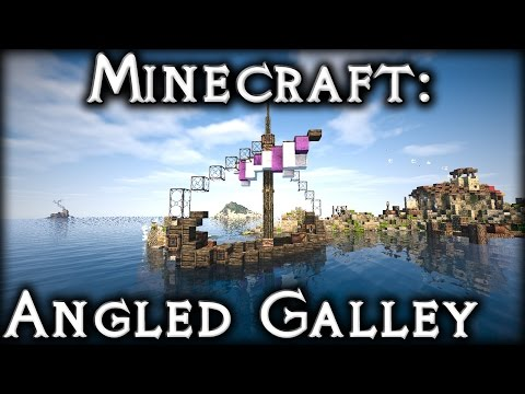 Minecraft: Small Angled Galley (Ship) Tutorial