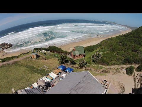 Aerial footage - Brenton on Sea Beach - Gardenroute Knysna South Africa  Part 2 of 20