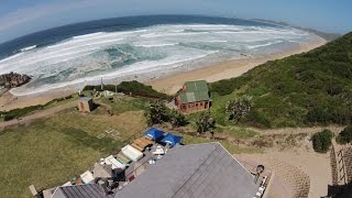 Aerial footage - Brenton on Sea Beach - Gardenroute Knysna South Africa  Part 2 of 20
