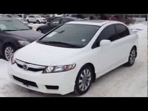 Pre Owned White 2009 Honda Civic EX L 5speed Maunal Calgary