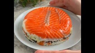 Салат суши торт слоями рецепт Shorts