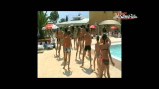 flash mob piscine camping l'eden