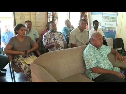 Fijian Prime Minister visits the 3Dimension Consultants Limited at Cuvu.