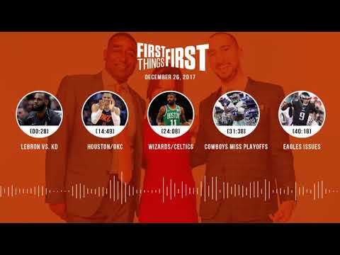 First Things First audio podcast (12.26.17) Cris Carter,Nick Wright,Jenna Wolfe | FIRST THINGS FIRST