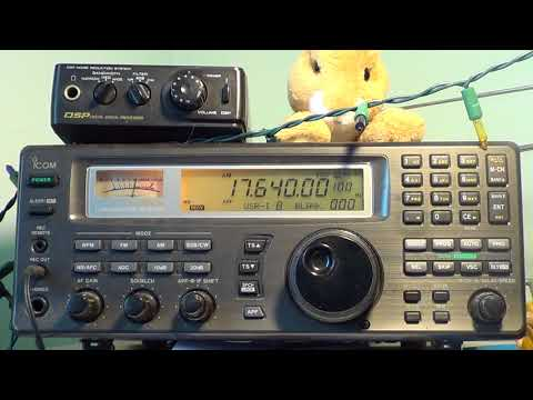 African Pathwayrs Radio via Madagascar 17640 Khz Shortwave on Icom IC R8500