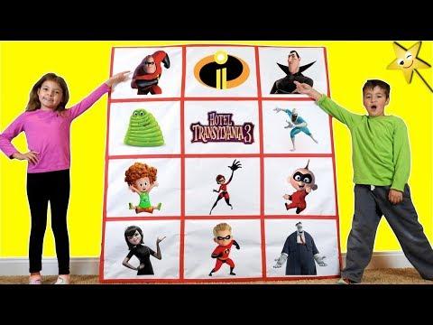 Giant Smash Surprise Toys Wall INCREDIBLES 2 vs HOTEL TRANSYLVANIA 3!