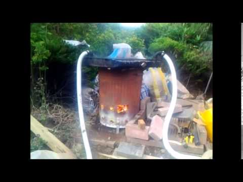 Diy swimming pool heater with car radiator and garden for Garden pool heater