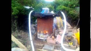 DIY Swimming Pool Heater with Car Radiator and Garden Incinerator.