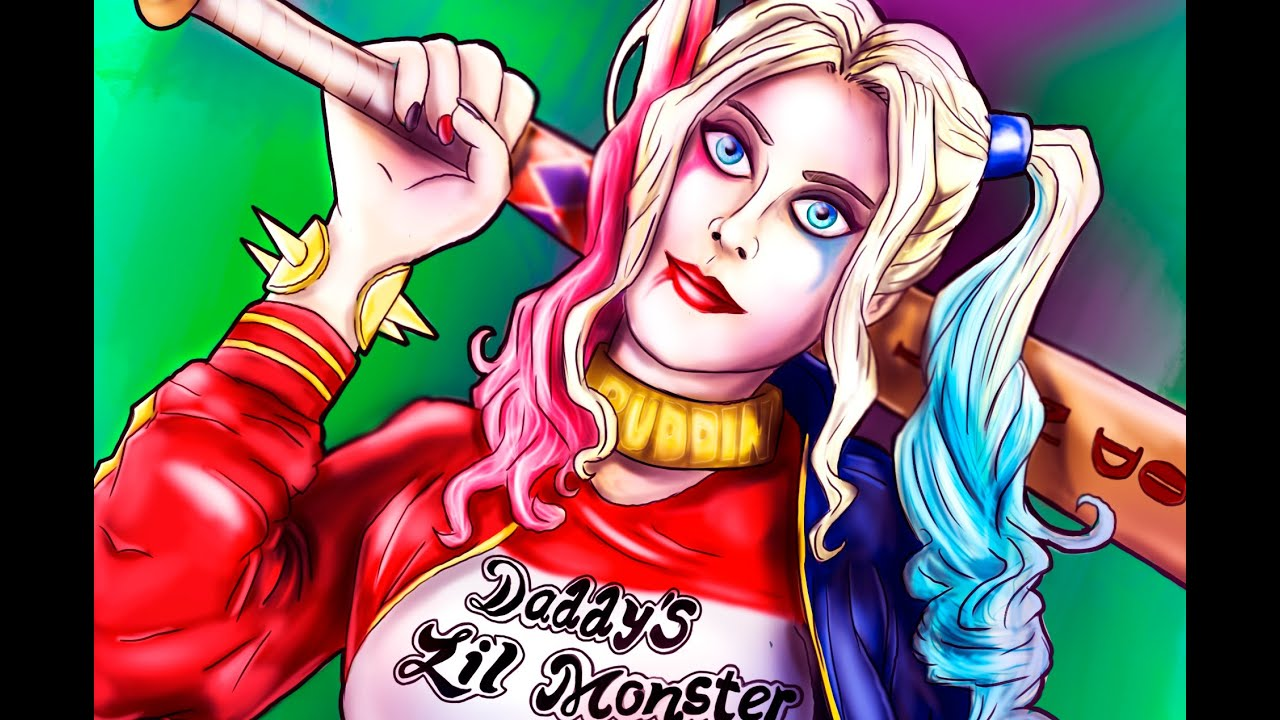 Harley Quinn Kawaii Para Colorear: Faciles De Harley Quinn Dibujos