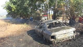 Καλαμάτα: Πυρκαγιά στον Μπουρνιά (1)