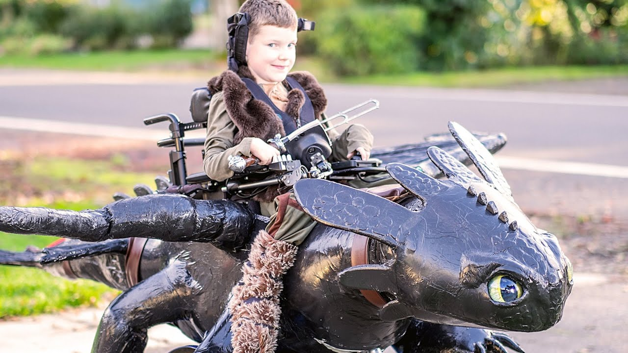 nonprofit creates halloween costumes for kids in wheelchairs youtube