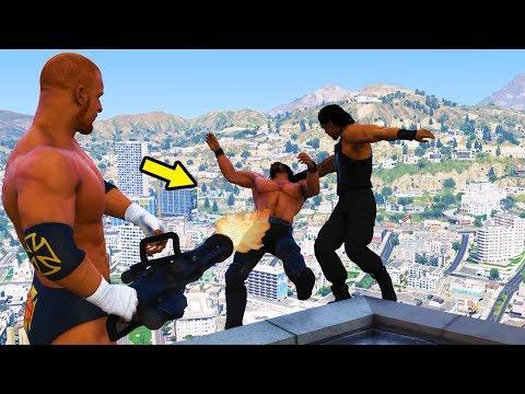 GTA 5 WWE EXTREME MOMENTS COMPILATION #5  (GTA V WWE Mods)