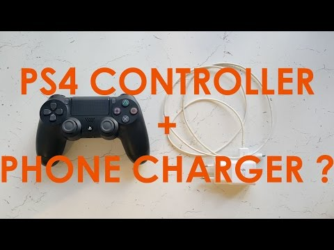 Can You Charge PS4 Controller From Phone Charger ?