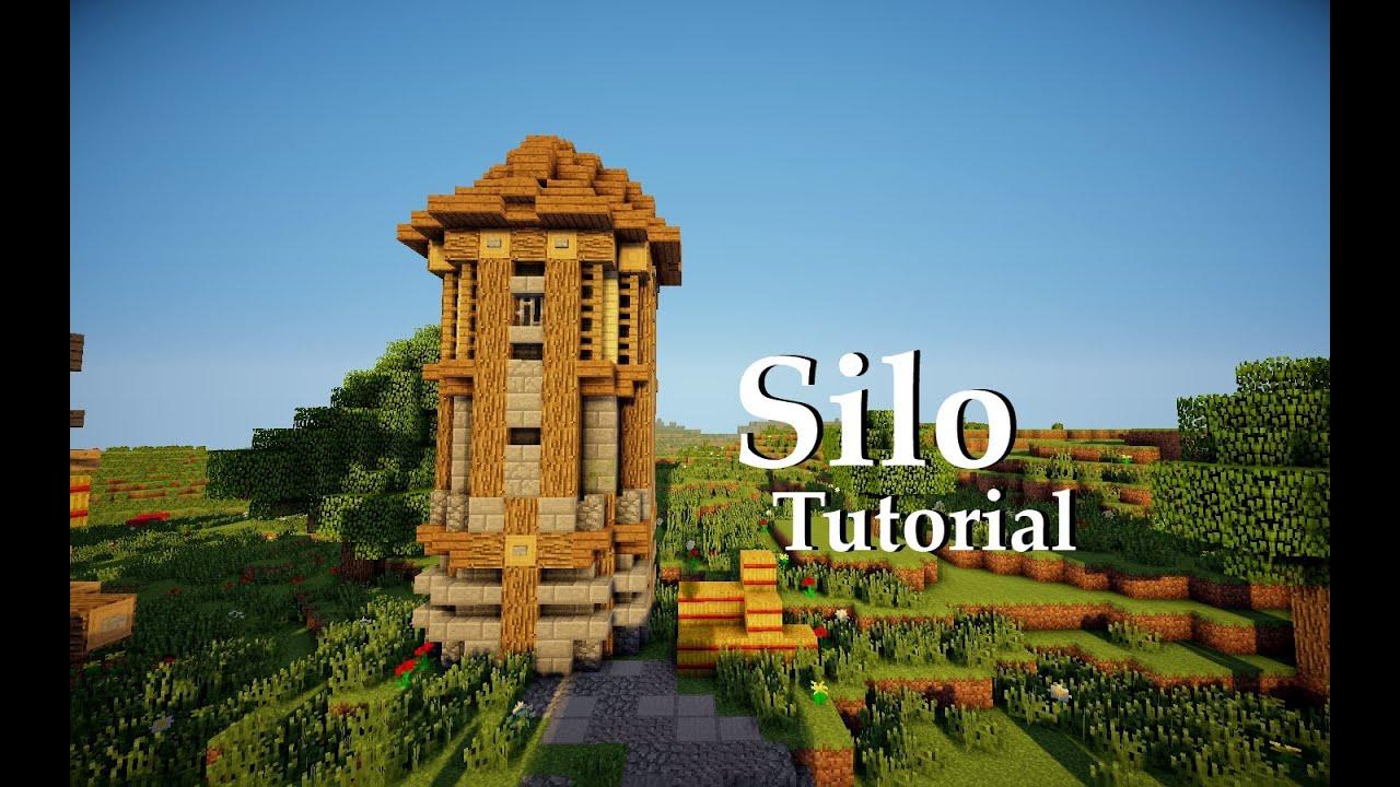 Minecraft Medieval Farm Silo Tutorial Youtube