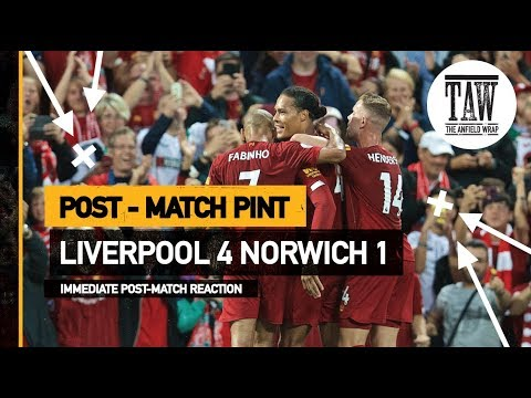 rpool 4 Norwich 1  Post Match Pint