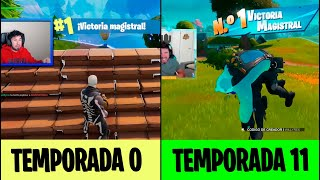 EVOLUCIÓN de FORTNITE: VICTORIA en TODAS las TEMPORADAS de FORTNITE (Nostalgia)