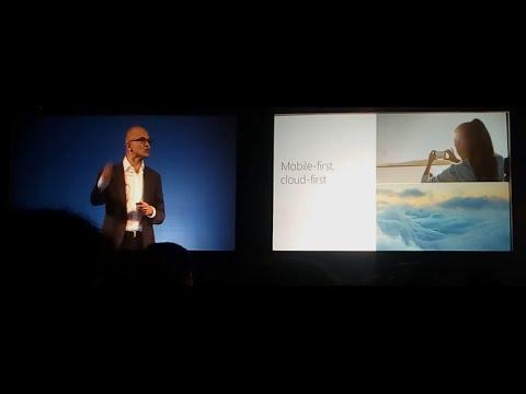 Keynote Speech / Presentasi CEO Microsoft Satya Nadella di depan Developer Indonesia