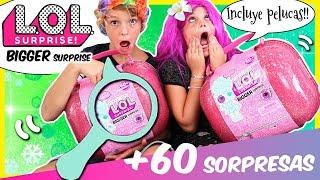 '¡Nuevas LOL BIGGER Surprise!! 🎉 MALETIN GIGANTE con 60 SORPRESAS y PELUCAS para las muñecas!! 👛