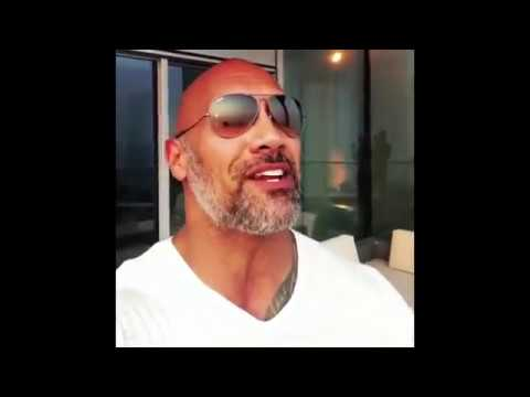 Motivational words from Dwayne 'The Rock' Johnson!