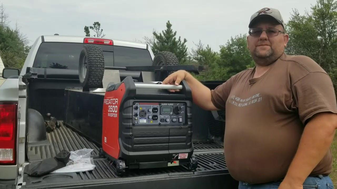 Predator 3500 Inverter Generator First Start and Noise Comparison!!!