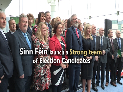 Sinn Féin launch a Strong team of Election Candidates