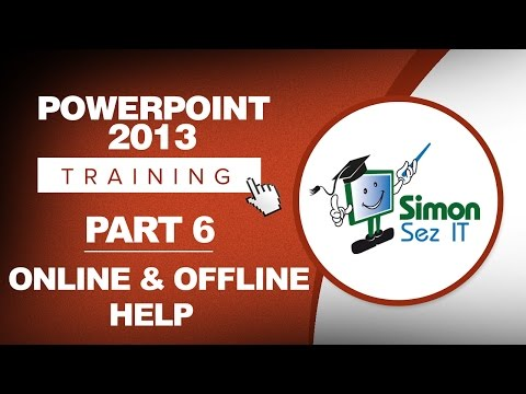 PowerPoint 2013 for Beginners Part 6: Online and Offline Help