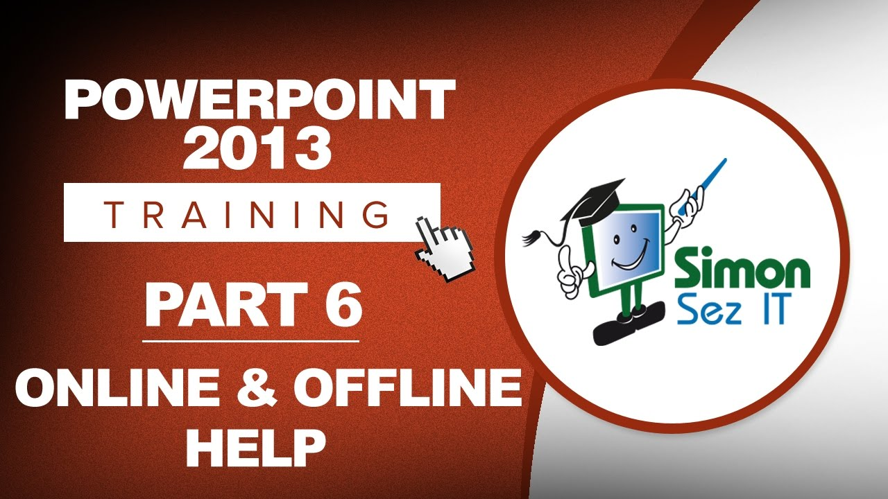 powerpoint 2013 for beginners part 6 online and offline help youtube