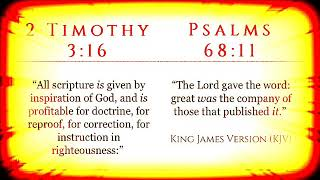 Volume 1 - 2 Timothy 3:16/Psalm 68:11 (KJV)
