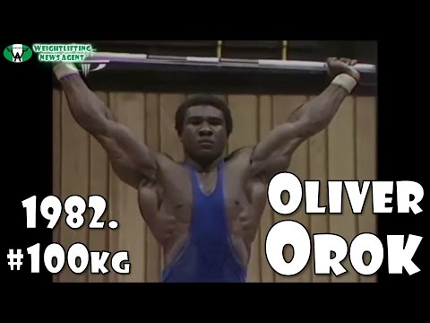 Oliver Orok (NGR, 100KG) | The most muscular weightlifter of all time | Commonwealth Games 1982