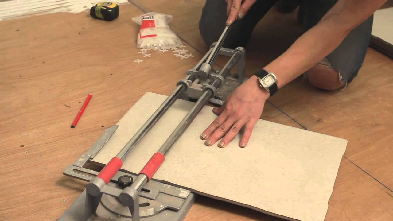 Diy how to lay ceramic floor tiles with philippa tuttiett youtube dailygadgetfo Gallery