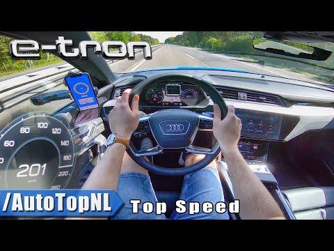 Audi E-TRON 55 Quattro 201km/h AUTOBAHN POV by AutoTopNL