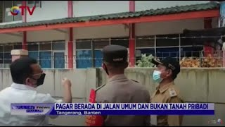 Bukan Tanah Pribadi, Pemkot Tangerang Akan Bongkar Pagar Beton yang Tutup Rumah Warga - BIM 16/03