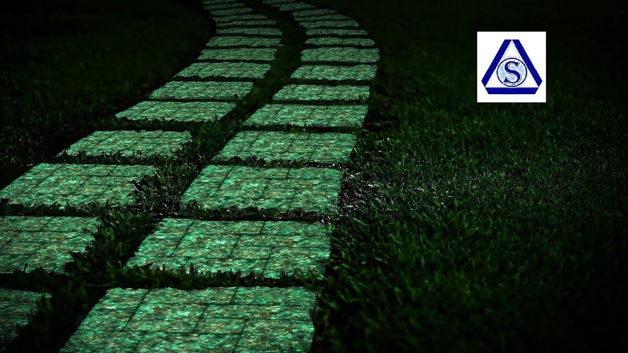 Светящаяся тротуарная плитка своими руками