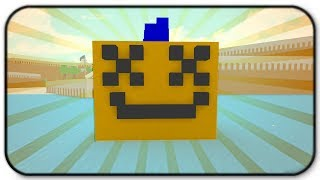 Building My Youtube Pumpkin Icon Minecraft Style - Roblox Build A Boat For Treasure