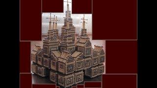 как построить замок из спичек из кубиков без клея своими руками  ИНСТРУКЦИЯ