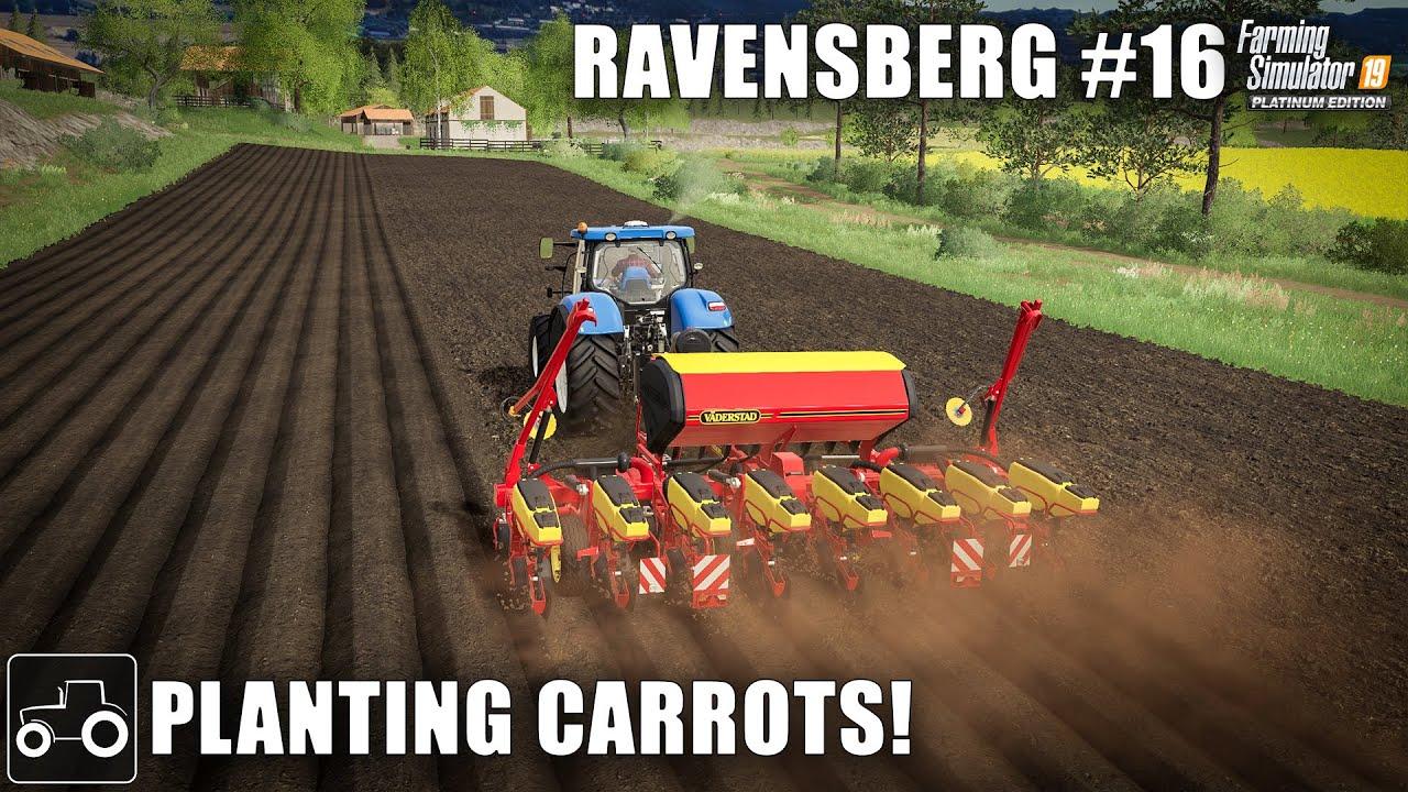 Upgrading The Planter & Planting Carrots, Ravensberg #16 Farming Simulator 19 Timelapse
