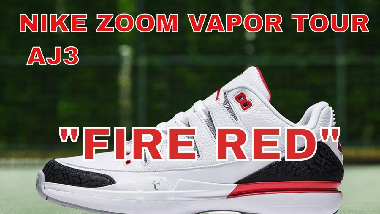 "e5413e00dff8b7 NIKE ZOOM VAPOR TOUR AJ3 ""FIRE RED"" - YouTube"
