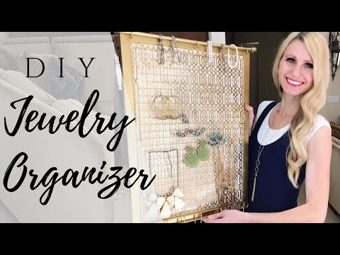 DIY JEWELRY ORGANIZER (JEWELRY DISPLAY FRAME)