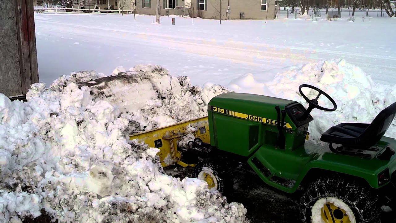 John Deere Snow Plow : John deere snow plow youtube